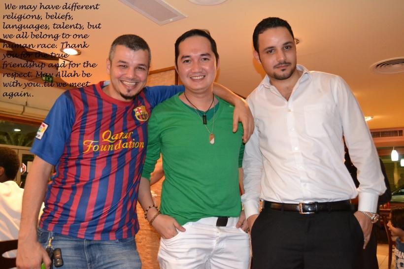 With Khaleed and Ibrahim @GoldenFork Hamdan, Abu Dhabi City, UAE