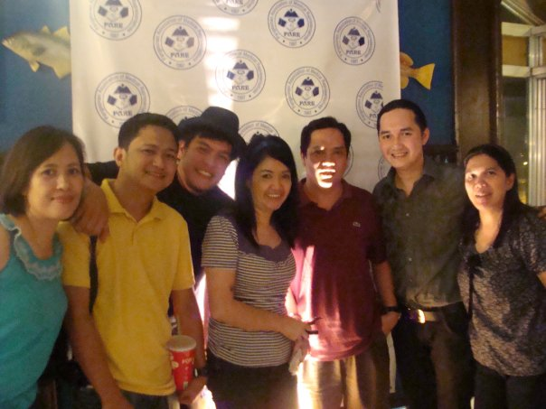 With PARE Officers and Dr. Belocura @ Quattro Grill, Dagupan City, Pangasinan, Philippines