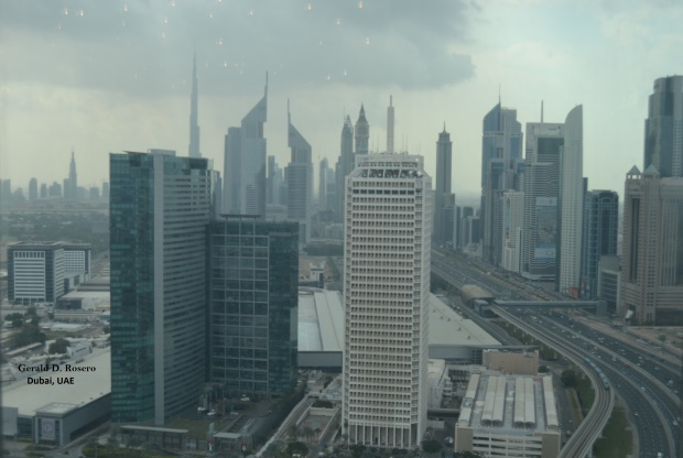 The panoramic view of Sheikh Zayed Road area