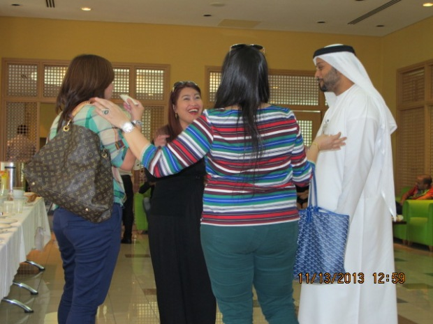 Grace Pagara shares a joke with Ms Anne, Ms. Rania and Mr. Rashid after a short meeting with the KR-Channel Management.