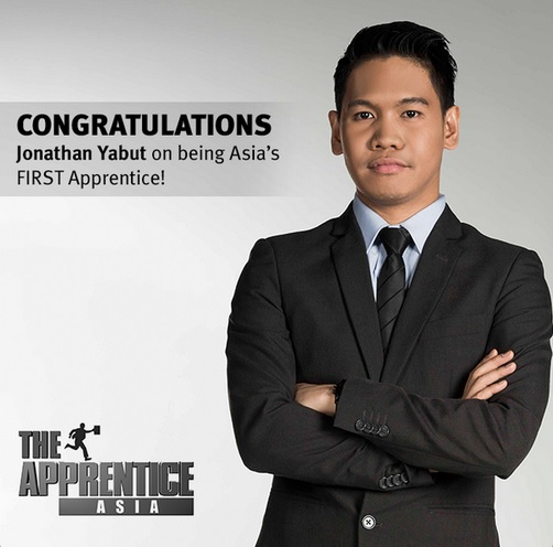 "Jonathan Allen Yabut - Winner of the first series ""The Apprentice Asia"