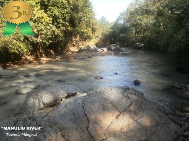 "MANULIB RIVER  By: Kenneth James Valenzuela  ""A place for Nature Lover, Summer Picnic, Saturday Labaday and River Fishing"". Tawad, Milagros  May 4, 2013 Panel of Judges - 39% Likes - 43% Ave = 82% Prize - P1,000.00"